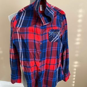 Justice girl flannel shirt